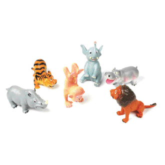 FUNNY ANIMAL - 6 ASSORTMENT (24 PCS) NV-5409