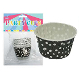 "14 PCS 2.5"" X 1.5"" POLKA DOT PARTY CUPS-BLACK (24 PACKS) PF-2214"