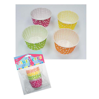 "14 PCS 2.5"" X 1.5"" POLKA DOT PARTY CUPS -MULTI(24 PACKS) PF-2212"