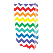 10 PCS WHITE ZIGZAG PAPER SACKS (24 PACKS) PF-2139