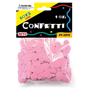 1 OZ PINK DOT CONFETTI (24 PACKS) PF-2076