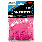 1 OZ HOT PINK STAR CONFETTI (24 PACKS) PF-2068