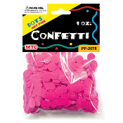 1 OZ HOT PINK DOT CONFETTI (24 PACKS) PF-2078