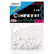 1 OZ WHITE STAR CONFETTI (24 PACKS) PF-2062