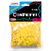 1 OZ YELLOW STAR CONFETTI (24 PACKS) PF-2063