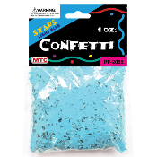 1 OZ LIGHT BLUE STAR CONFETTI (24 PACKS) PF-2065