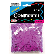 1 OZ PURPLE STAR CONFETTI (24 PACKS) PF-2067