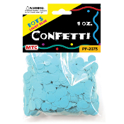 1 OZ LIGHT BLUE DOT CONFETTI (24 PACKS) PF-2075