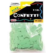 1 OZ LIGHT GREEN DOT CONFETTI (24 PACKS) PF-2081