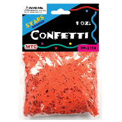 1 OZ ORANGE STAR CONFETTI (24 PACKS) PF-2114
