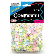 1 OZ PASTEL ASSORTED STAR CONFETTI (24 PACKS) PF-2116