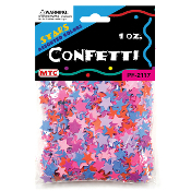 1 OZ BRIGHT ASSORTED STAR CONFETTI (24 PACKS) PF-2117