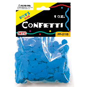 1 OZ BLUE DOT CONFETTI (24 PACKS) PF-2119