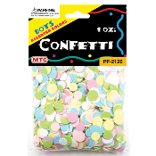 1 OZ PASTEL ASSORTED DOT CONFETTI (24 PACKS) PF-2120