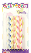 "SALE! 36 PCS 3.25"" SPIRAL CANDLES (48 PCS) PF-6752"