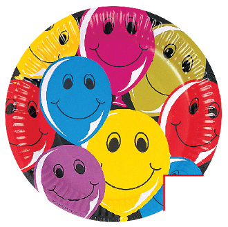 "SALE! 8 PCS 7""PLATES HAPPY BALLOONS (48 PACKS) PF-10001"