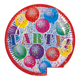 "SALE! 6 PCS 7"" PLATE - PARTY! (48 PACKS) PF-3961"