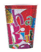 SALE! 6 PCS 9 OZ CUPS - RAINBOW & BALLOONS (48 PCS) PF-3560