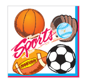 SALE! 16 LUNCHEON NAPKINS - SPORTS (48 PCS) PF-4702