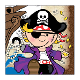 SALE! TOY PIRATE - 24 BEVERAGE NAPKINS (48 PACKS) PF-25681