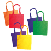 "2 PCS NON-WOVEN TOTE BAGS 8"" X 8"" (24 PACKS) PF-2321"
