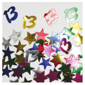 2/3 OZ. CONFETTI - #13 & STARS (24 PACKS) PF-2745