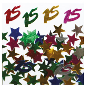 2/3 OZ. CONFETTI - #15 & STARS (24 PACKS) PF-2746