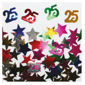 2/3 OZ. CONFETTI - #25 & STARS (24 PACKS) PF-2751