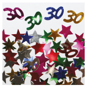 2/3 OZ. CONFETTI - #30 & STARS (24 PACKS) PF-2752