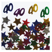 2/3 OZ. CONFETTI - #40 & STARS (24 PACKS) PF-2754