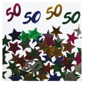 2/3 OZ. CONFETTI - #50 & STARS (24 PACKS) PF-2755