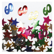 2/3 OZ. CONFETTI - #60 & STARS (24 PACKS) PF-2756