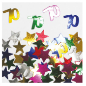 2/3 OZ. CONFETTI - #70 & STARS (24 PACKS) PF-2757