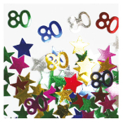 2/3 OZ. CONFETTI - #80 & STARS (24 PACKS) PF-2758