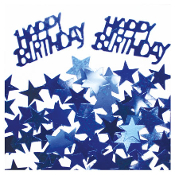 2/3 OZ. CONFETTI - BIRTHDAY & STARS BLUE (24 PACKS) PF-2762