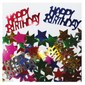 2/3 OZ. CONFETTI - BIRTHDAY & STARS ASSORTED (24 PACKS) PF-2765
