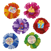 "6"" GIFT BOWS ASSORTED (24 PACKS) PF-6608"