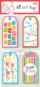 12 GIFT TAGS - BIRTHDAY (24 PACKS) PF-2634