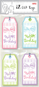 12 GIFT TAGS - BIRTHDAY RIBBON (24 PACKS) PF-2635