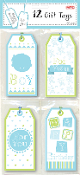 12 GIFT TAGS - BABY BOY (24 PACKS) PF-2636