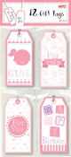 12 GIT TAGS - BABY GIRL (24 PACKS) PF-2637