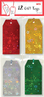 12 GIFT TAGS - LASER (24 PACKS) PF-2638
