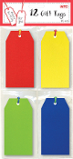 12 GIFT TAGS - BRIGHT (24 PACKS) PF-2639