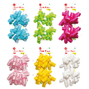 2 CURLY BOWS - SOLID (24 PACKS) PF-2781