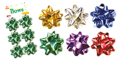 "6 PCS 2.5"" GIFT BOWS ASSORTED (24 PACKS) PF-6648"