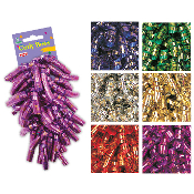 2 PCS METALLIC CURLY BOWS ASSORTED (24 PACKS) PF-6888