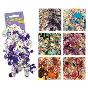 2 PCS HAPPY BIRTHDAY CURLY BOWS ASSORTED (24 PACKS) PF-6890