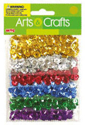 0.85 OZ SEQUINS - 6 METALLIC COLORS (24 PACKS) PF-2847