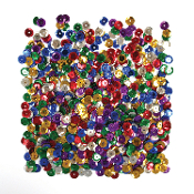 1 OZ SEQUINS - MIXED METALLIC COLORS (24 PACKS) PF-2849