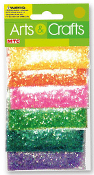 0.85 OZ GLITTER - 6 POUCHES PEARLIZED COLORS (24 PACKS) PF-2853